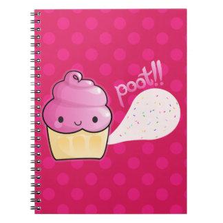 Cupcakes Fart Sprinkles Pink Spiral Notebook