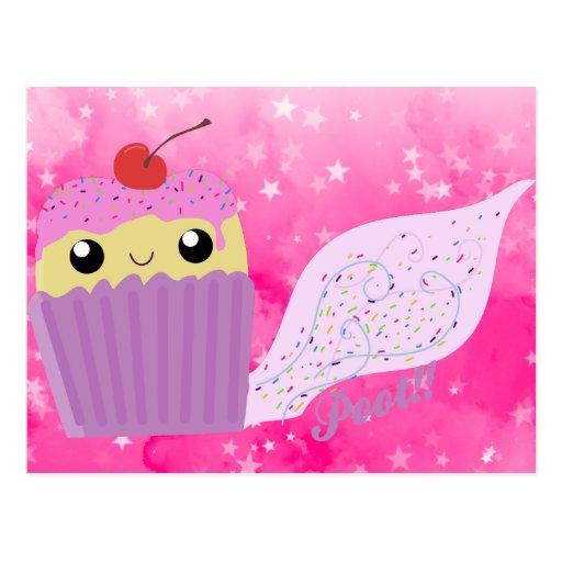 Cupcakes Fart Sprinkles Postcard