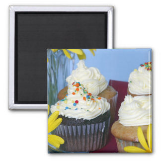 Cupcakes Flowers Magnet