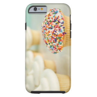 Cupcakes, focus on one in front with tough iPhone 6 case