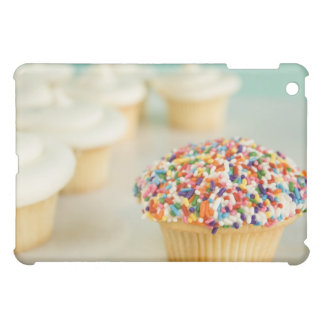 Cupcakes, focus on one in front with cover for the iPad mini