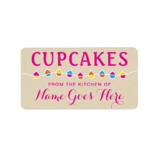 CUPCAKES from the kitchen of stickers Address Label