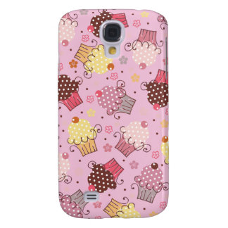 Cupcakes in Pink Galaxy S4 Case