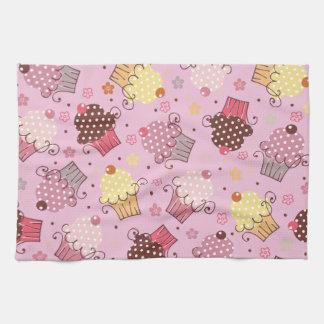 Cupcakes in Pink Tea Towel