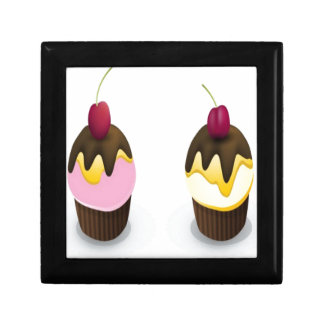 Cupcakes in vectors design trinket box