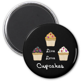 Cupcakes Live Love Magnet