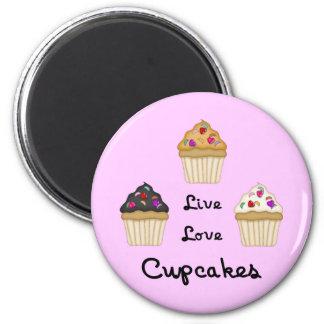 Cupcakes Live Love Fridge Magnet