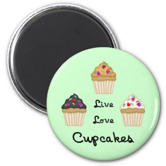 Cupcakes Live Love Magnets