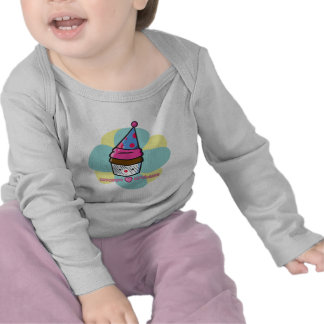 Cupcakes Love Birthdays Tee Shirt