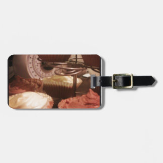 cupcakes luggage tag