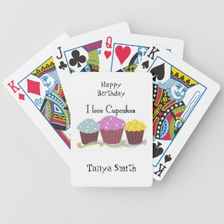 Cupcakes Make Me Happy Bicycle Playing Cards