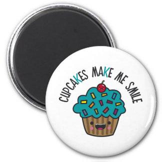 Cupcakes Make Me Smile Refrigerator Magnet