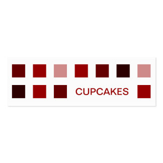 CUPCAKES mod squares Business Cards