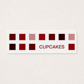 CUPCAKES (mod squares) Mini Business Card