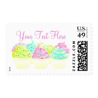 Cupcakes N Sprinkles Custom Postage Stamps