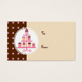 Cupcakes on a Stand (Brown/Cream) Business Card