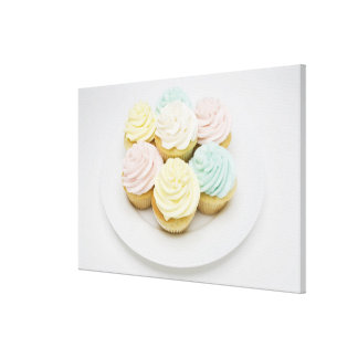 Cupcakes on White Plate Canvas Print