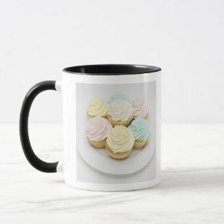 Cupcakes on White Plate Mug