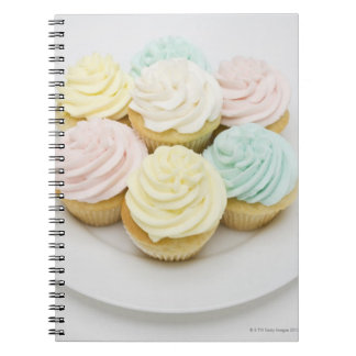 Cupcakes on White Plate Notebook