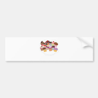 Cupcakes paradise bumper sticker