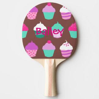 Cupcakes ping pong paddle