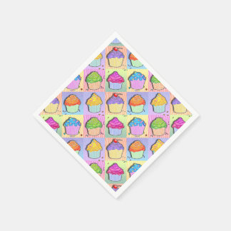 CUPCAKES POP ART PAPER SERVIETTES