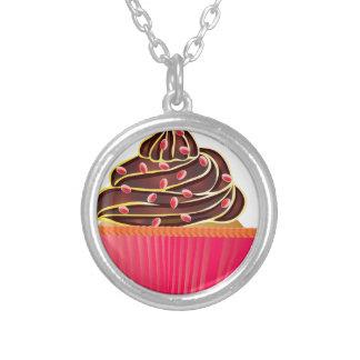 Cupcakes Round Pendant Necklace