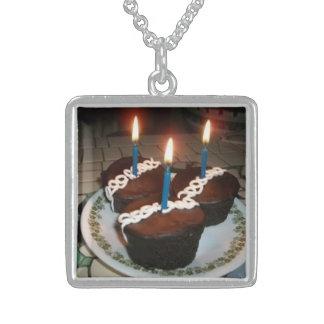 Cupcakes Square Pendant Necklace