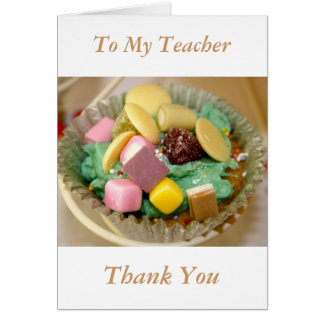 Cupcakes To My Teacher Thank You Card