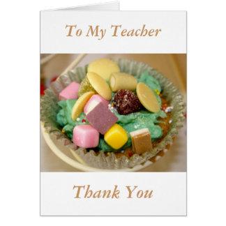 Cupcakes To My Teacher Thank You Card
