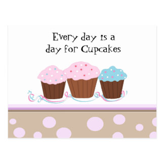 Cupcakes with a Cute Saying Postcard