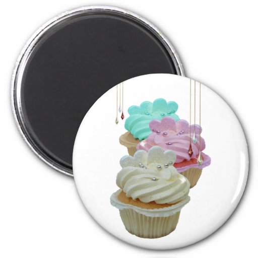 Cupcakes with Bling! Magnets