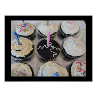 Cupcakes with Candles Poster
