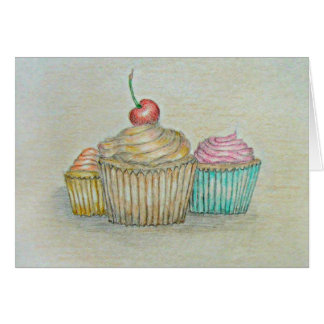 Cupcakes with Cherry Greeting Card