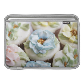 Cupcakes with flower icing MacBook sleeve