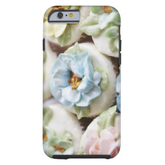 cupcakes with flower icing tough iPhone 6 case
