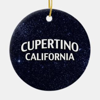 Cupertino California Christmas Ornament