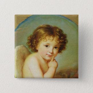 Cupid 15 Cm Square Badge