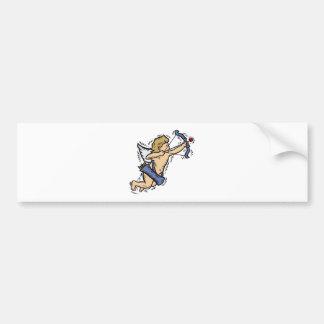 Cupid Aiming His Heart Arrow Bumper Sticker