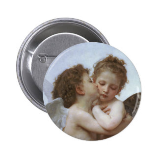 Cupid and Psyche as Babys 6 Cm Round Badge