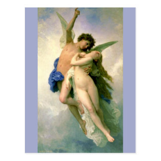 Cupid and Psyche by Bouguereau Postcard