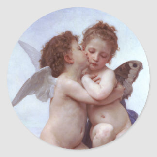 Cupid and Psyche Classic Round Sticker