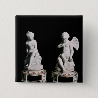 Cupid and Psyche, Sevres group, 1758 15 Cm Square Badge