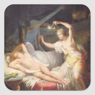 Cupid and Psyche Square Sticker