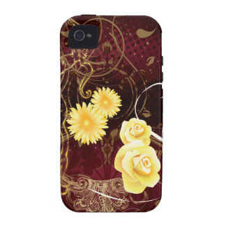 Cupid and Yellow Flowers Vibe iPhone 4 Covers