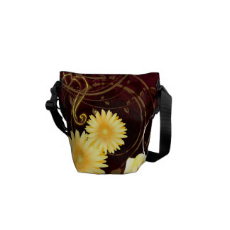 Cupid and Yellow Flowers Courier Bags