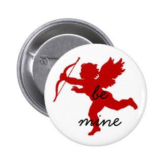 "Cupid ""Be Mine"" Valentine's Button"