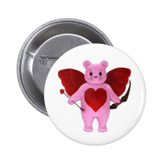Cupid Bear Button