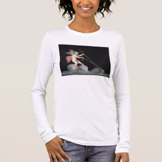 Cupid being led by Tortoises (oil on panel) Long Sleeve T-Shirt