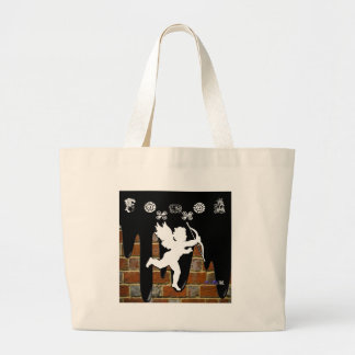 CUPID BRICK BACKGROUND PRODUCTS TOTE BAGS